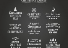 Free vector Chalkboard christmas badges #28687