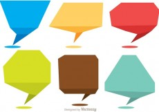 Free vector Chat Shape Icons Vector Pack #32729
