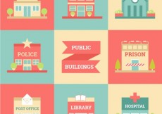 Free vector Chic city buildings #30202