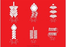 Free vector Chinese Fire Work Vectors #29931