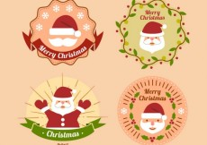 Free vector Christmas badges pack #34461
