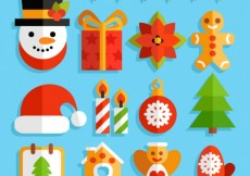 Free vector Christmas elements collection in flat design #31255