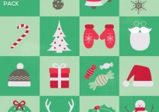 Free vector Christmas elements pack #32663