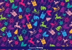 Free vector Christmas icons pattern #29266