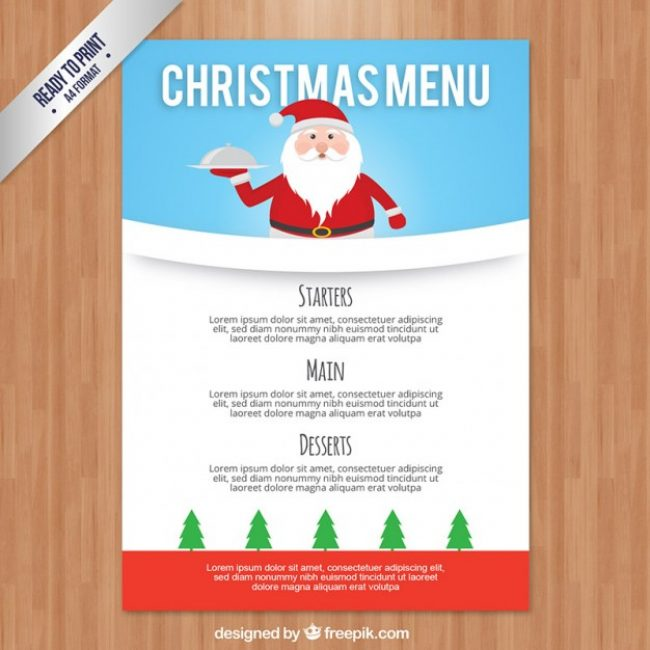 Dishes Archives – Christmas Menu Word Template