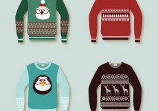 Free vector Christmas pullovers collection #29385