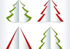 Free vector Christmas tree collection in origami style #31090