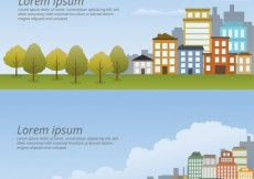 Free vector Cityscape Template Pack #30481