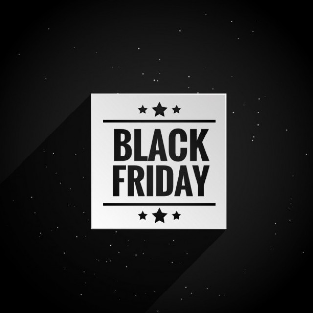 Free vector clean black friday poster #31860