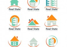Free vector Collection of abstract real estate logos #30086