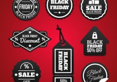 Free vector Collection of black friday labels #33294