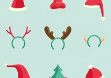 Free vector Collection of christmas hats #31940