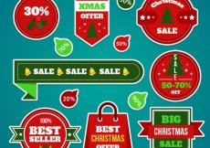 Free vector Collection of christmas sale badges #29590