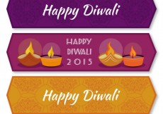 Free vector Collection of diwali 2015 banners #28583