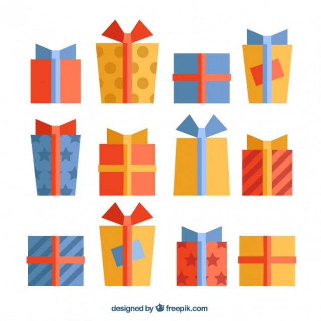 Free vector Collection of flat presents #31263