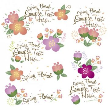 Free vector Collection of floral decorations #33783