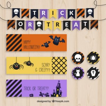 Free vector Collection of halloween decoration #34191