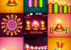 Free vector collection of Shub Diwali cards #32673