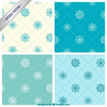 Free vector Collection of snowflake patterns #34151