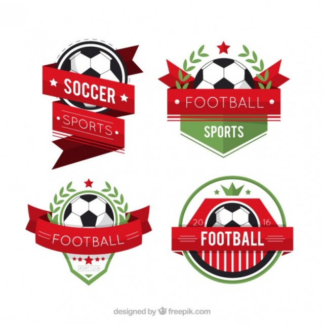 Free vector Collection of soccer badges #33617