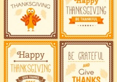 Free vector Collection of thanksgiving day cards #29411