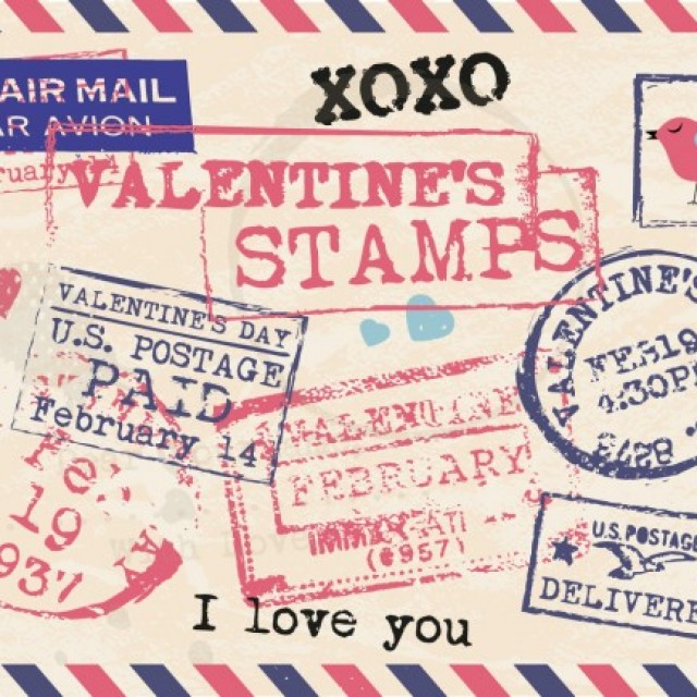 Free vector Collection of valentines stamps #32610