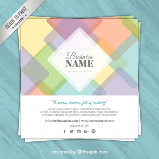 Free vector Colored business card #32212