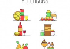 Free vector Colored food icons #31774
