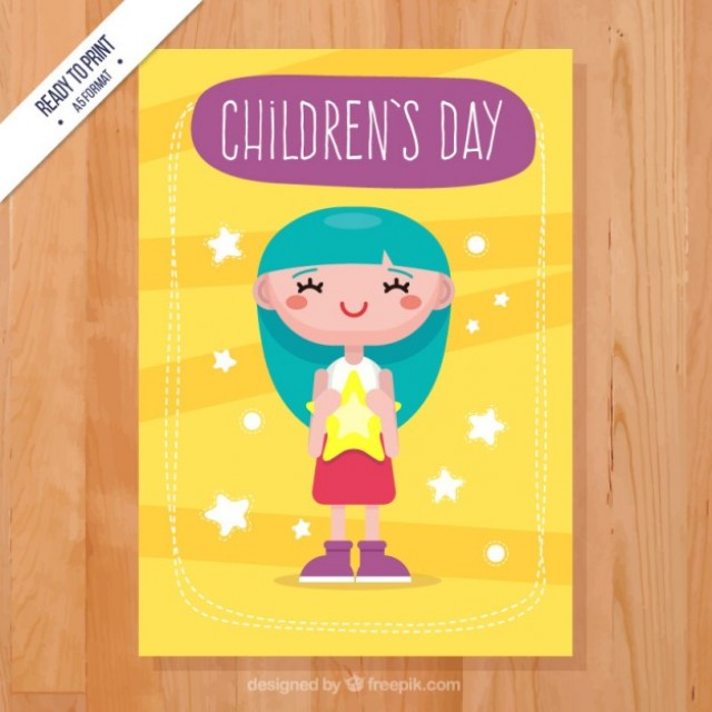 Free vector Colorful children's day card #32522