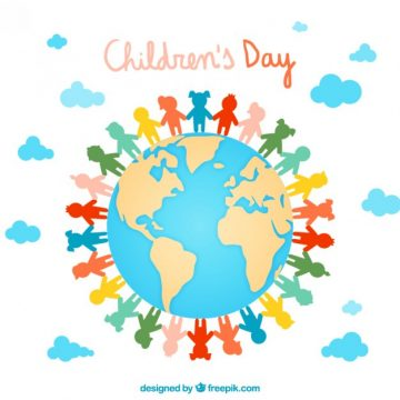 Free vector Colorful children's day illustration #33803
