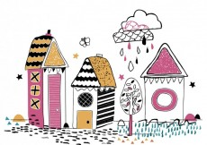 Free vector Colorful hand drawn houses #33705