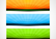 Free vector Colorful headers set #31491