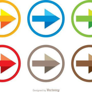 Free vector Colorful Next Step Arrow Icon Vectors #34610