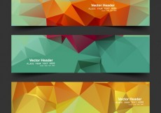 Free vector colorful polygonal banners #32734