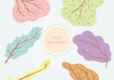 Free vector Colorful tree branches #34531