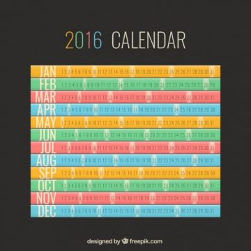Free vector colourful calendar #28695