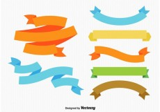 Free vector Colourful Ribbons and Labels #32837