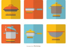Free vector Cooking Equipments Flat Icons Vector Pack #32059