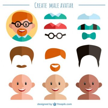 Free vector Create your male avatar #32940