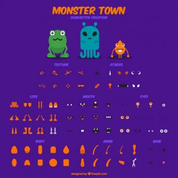 Free vector create your monster #30080