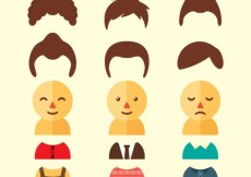 Free vector Customizable male characters #28365