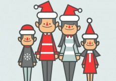 Free vector Cute christmas family #31126
