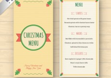 Free vector Cute christmas menu template #32266