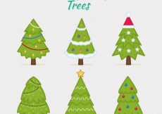 Free vector Cute christmas trees collection #30705