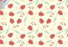 Free vector Cute pattern with red flowers #31944