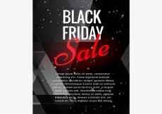 Free vector Dark brochure of black friday #32686