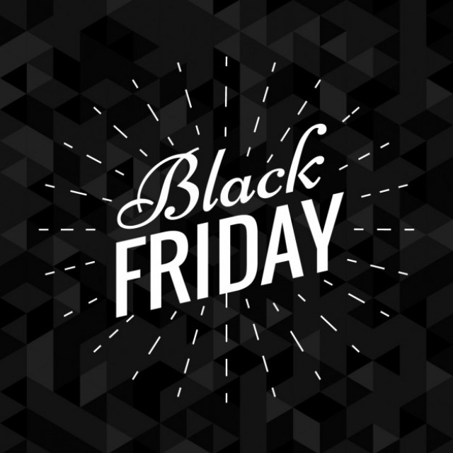 Free vector dark elegant black friday background #32762