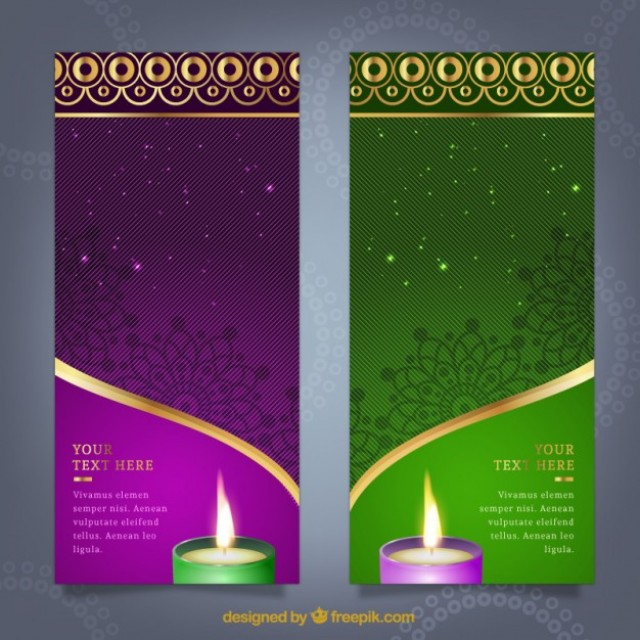 Free vector Diwali banners template #33942