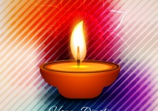 Free vector Diwali shiny card with striped background #29011
