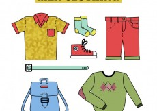 Free vector Drawn Men clothing Collection #30404
